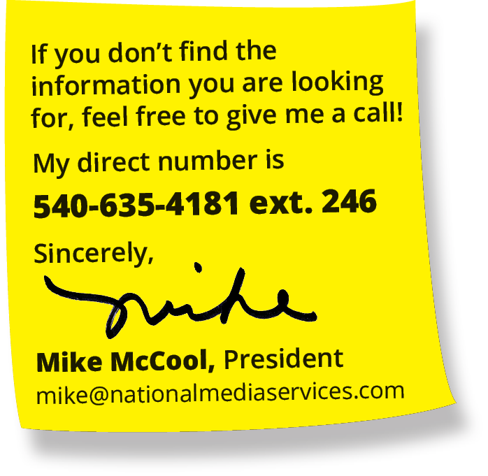 Mike McCool at National Media Services, Inc.